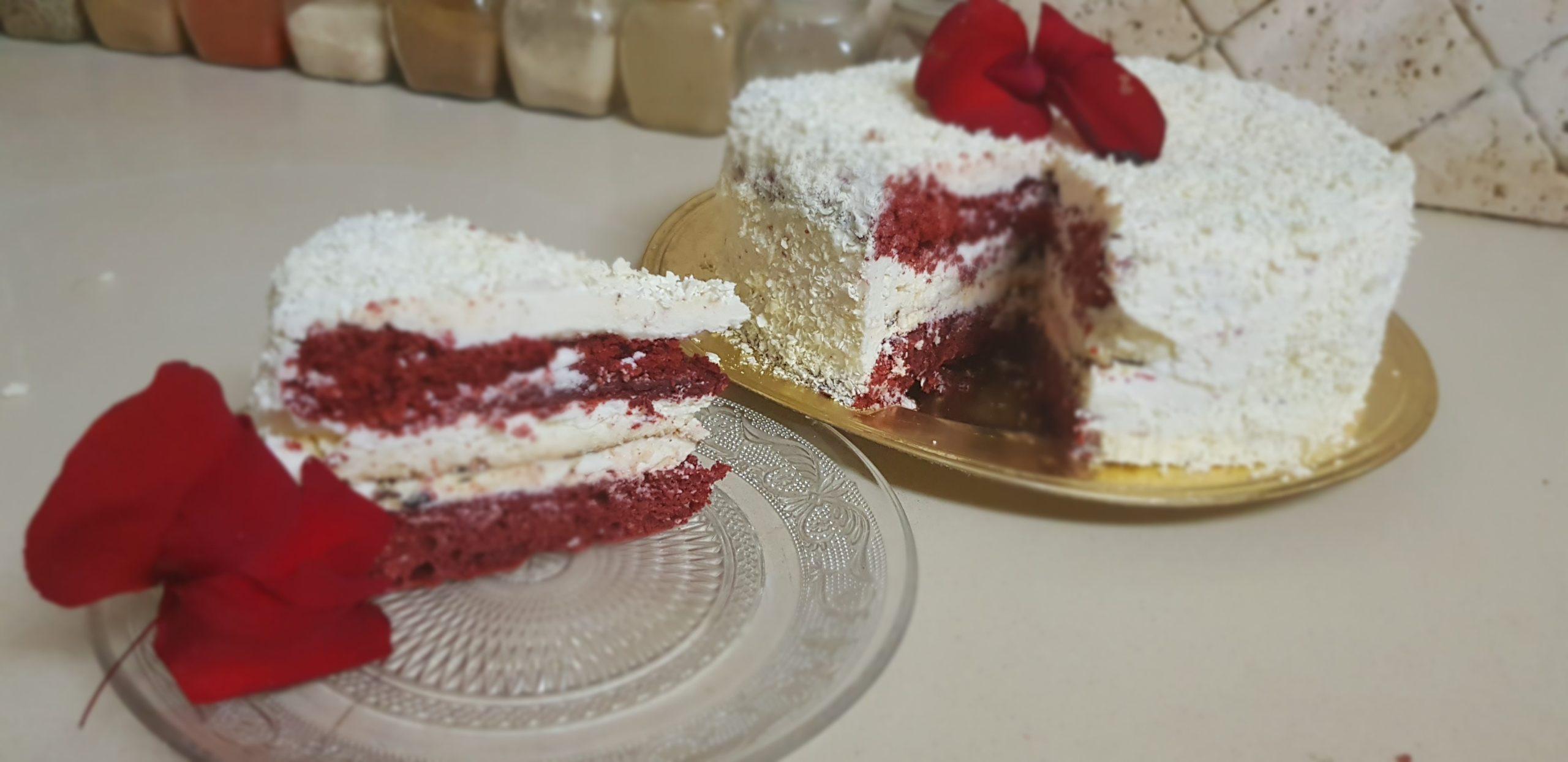 Le red velvet cake, ou gâteau rouge velours d'origine américaine