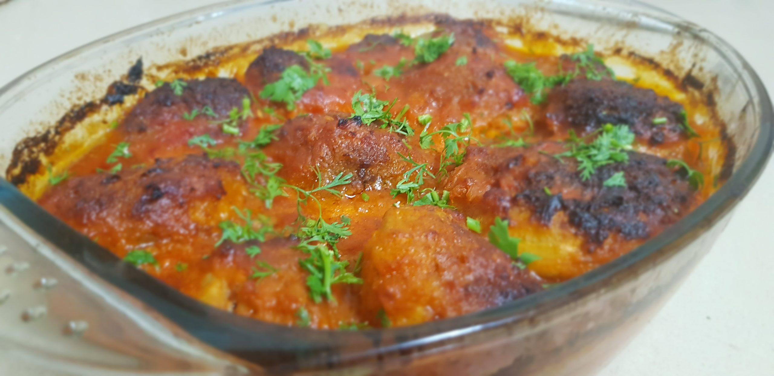 Artichauts farcis à la viande et gratinés au four