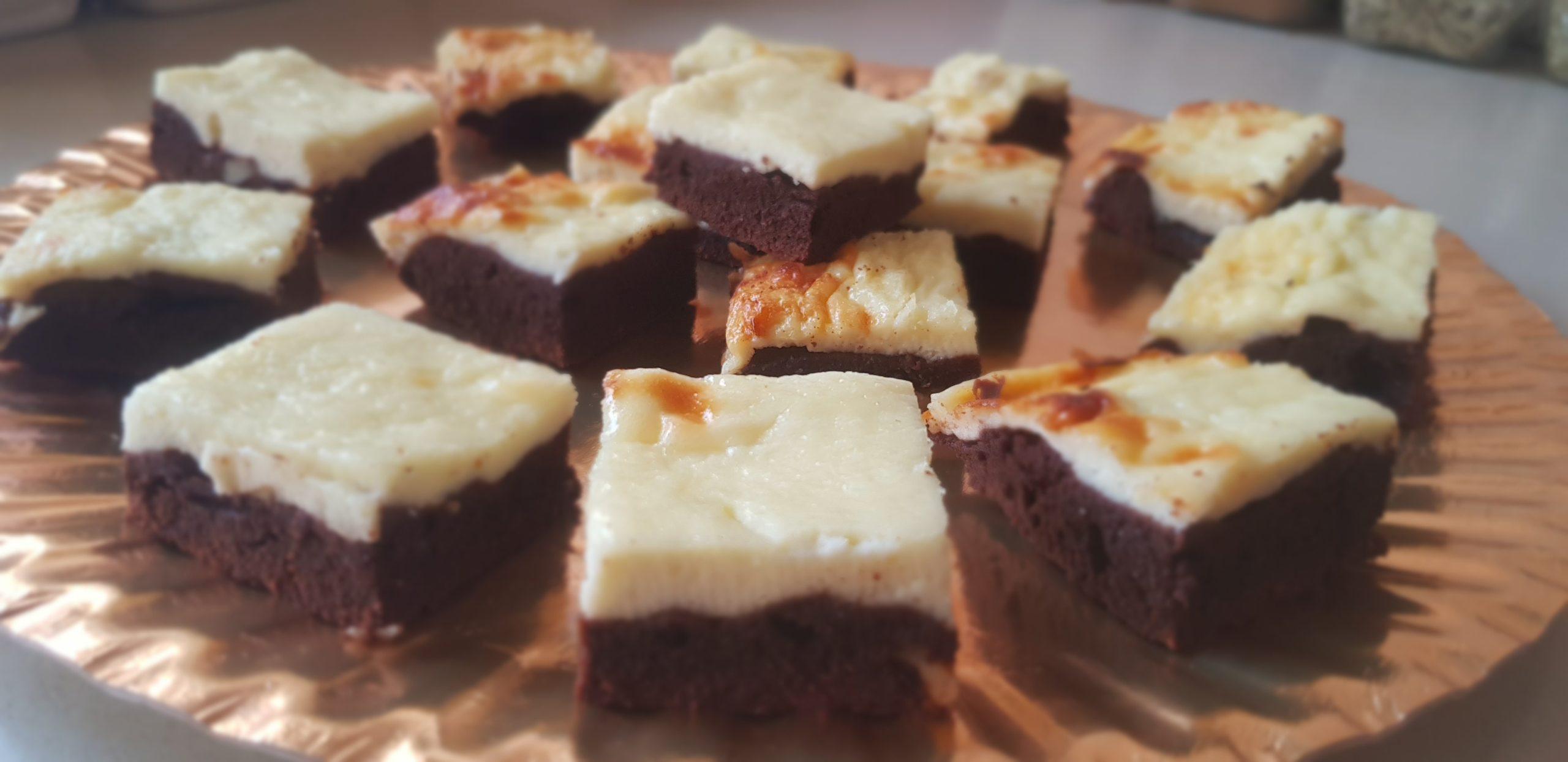 Les brownies au cheesecake