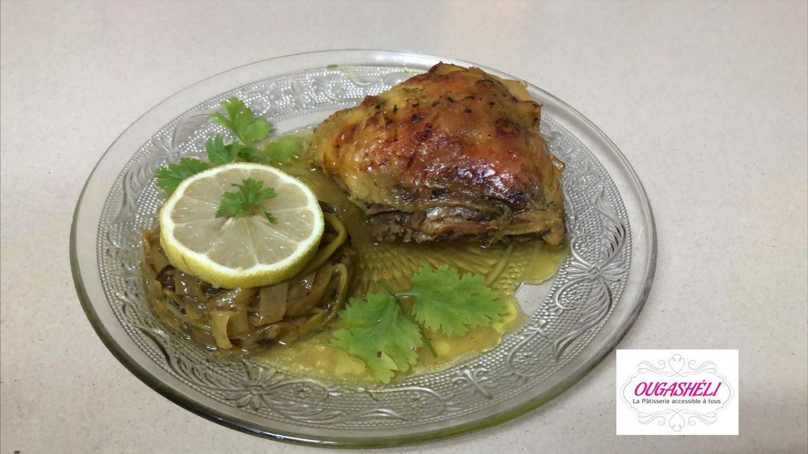 Ragoût de poulet aux poireaux et céleri
