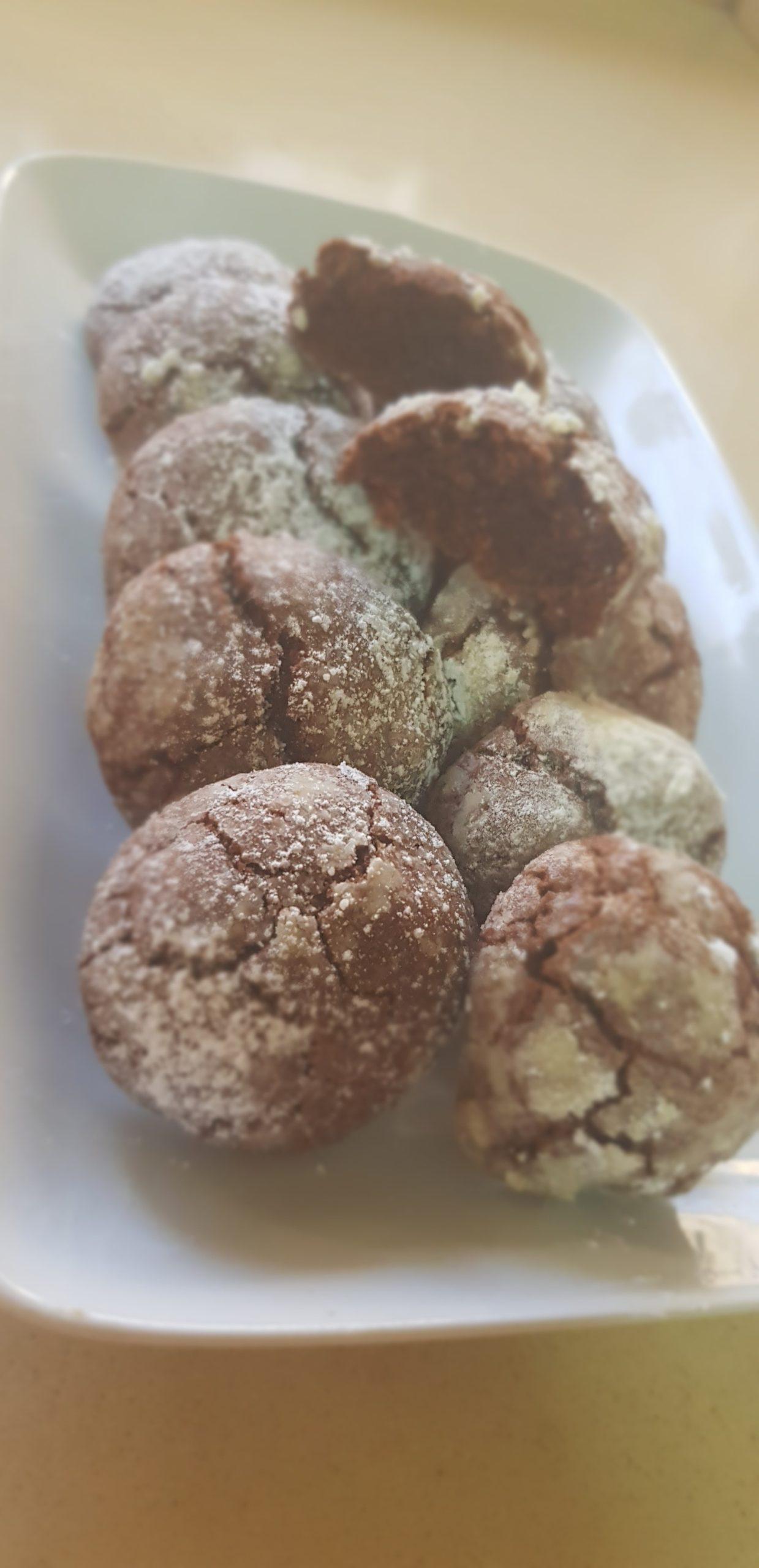 Les biscuits enneigés  au chocolat