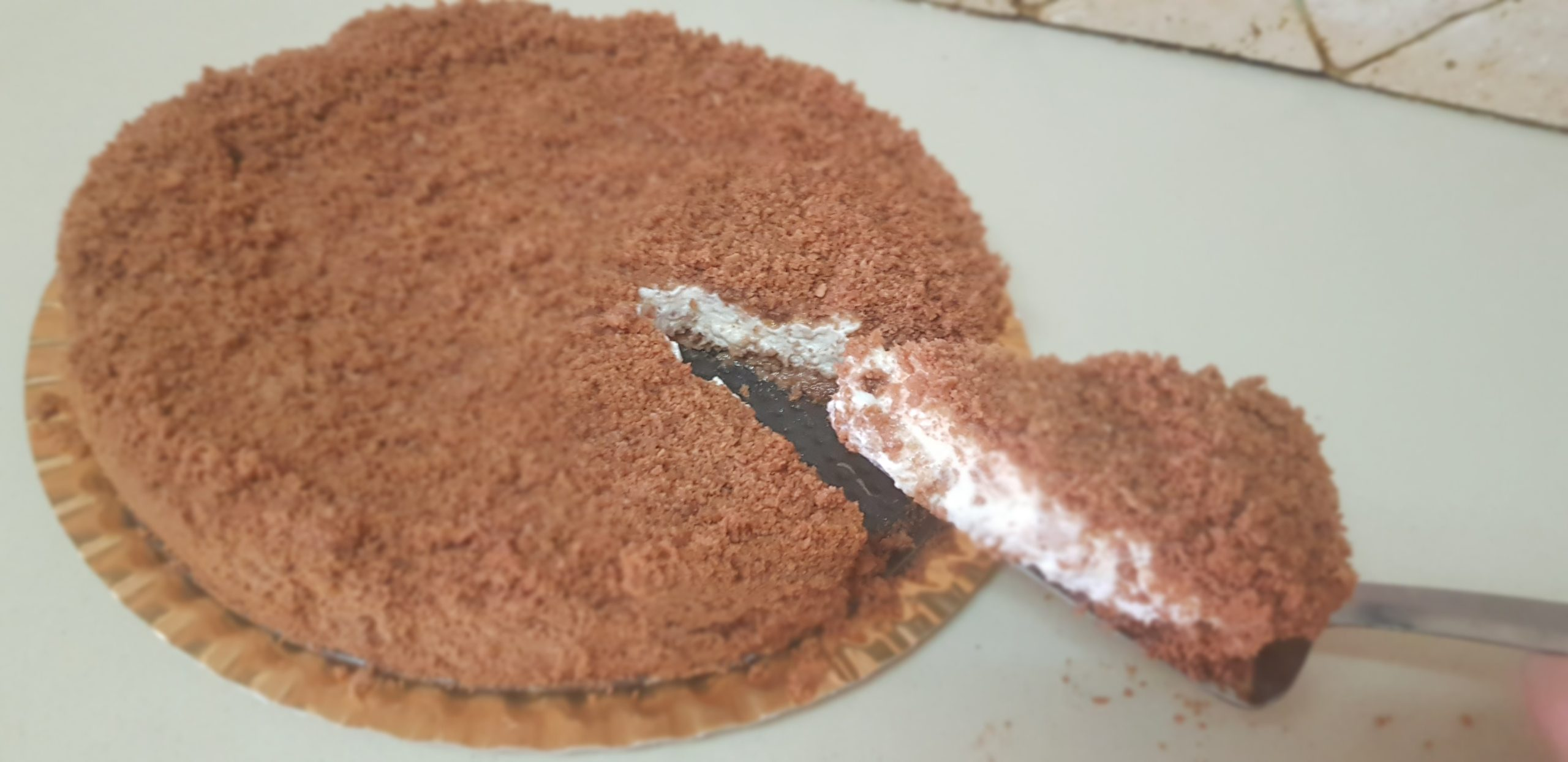 Gâteau à la crème fraiche facile et sans cuisson