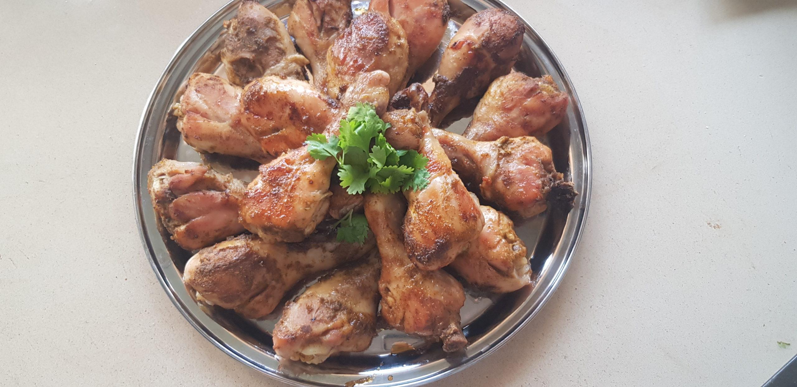 Pilon de poulet au miel et gingembre